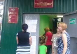 Беженцы с Украины в коридорах Воронежского УФМС